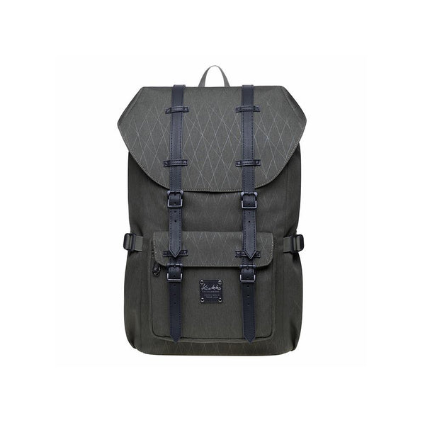 KAUKKO Backpack for city trips, EP5-18 ( Army Green /21.1L )