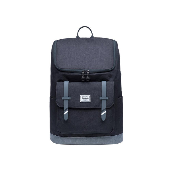 KAUKKO Backpack for daily use, KF10 ( Black Grey / 16.6L )