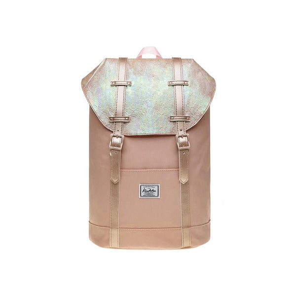 KAUKKO Travel Casual Rucksack Laptop Daypack, EP6-11 ( Fairy Rose Tan / 11.8L )