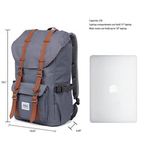 KAUKKO Backpack for city trips, EP5 ( Grey / 22.4L )