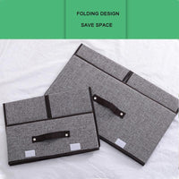 2 Foldable storage boxes (1 large box 19.6 * 11.8* 9.8 inches, 1 small box 14.1 * 9.8 * 6.2 inches)
