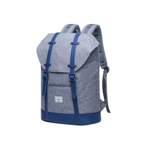 KAUKKO Backpack Women Men Vintage Travel Backpack, EP6-2  ( Grey Blue / 18.3L  )