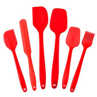 Silicone Spatula Set with 500 Degrees Fahrenheit Heat Resistant