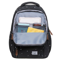 KAUKKO Backpack for School, K8008-1 ( Black / 18.9L )