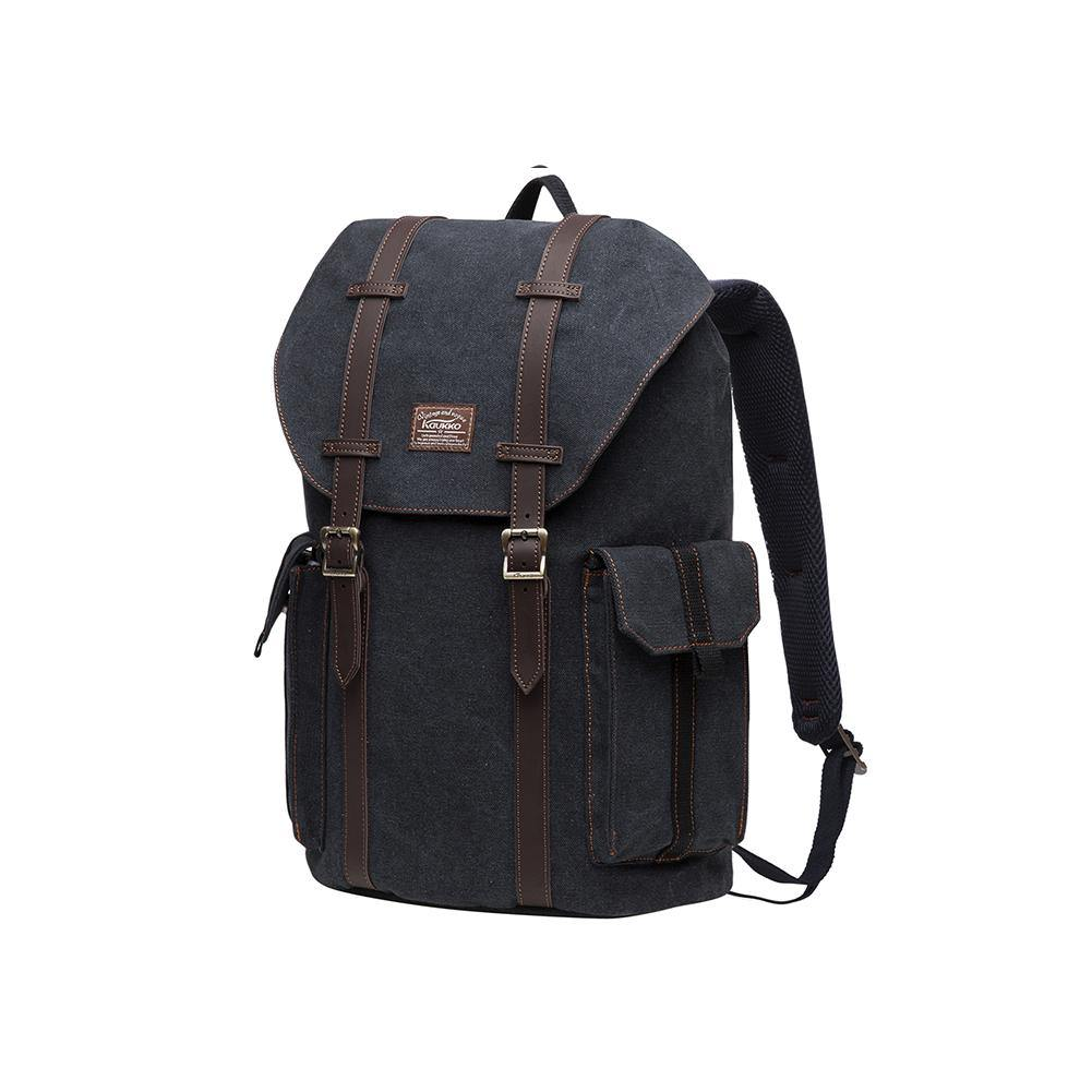 KAUKKO Backpack for daily use, K1048-2( Black / 17.8 L )