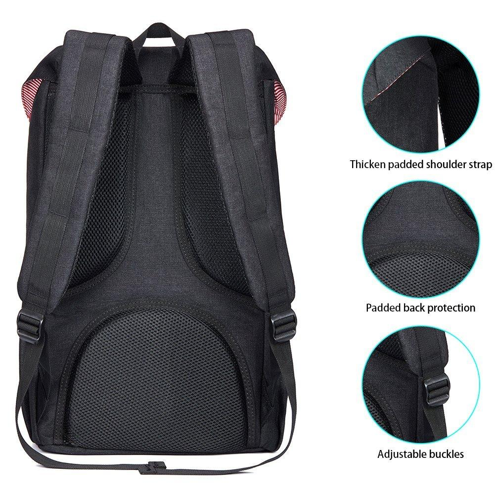 KAUKKO Backpack for city trips, EP5-2 ( Black / 19L )