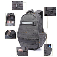 KAUKKO Large multi-purpose waterproof laptop notebook backpack, K1038 ( Grey )