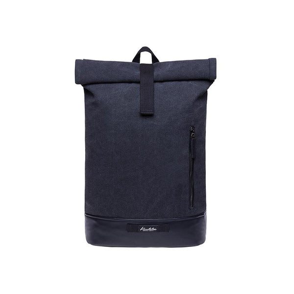 KAUKKO Backpack for daily use, KF06-1 ( Black Canvas / 15.7L )