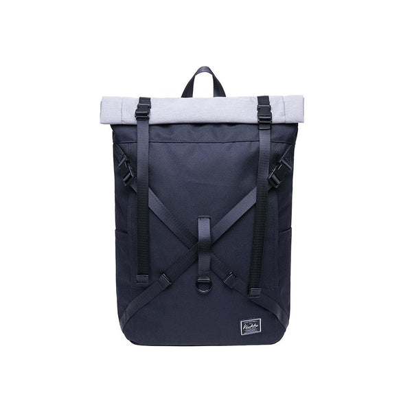 KAUKKO Backpack for daily use,  KF07( Black Withe  / 17.8L )