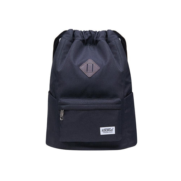 Oxford fabric Drawstring Sports Backpack ( black )