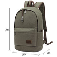 KAUKKO Backpack for School, K1032 ( Green / 21L )