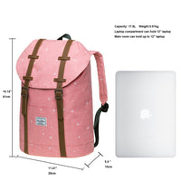 KAUKKO Backpack for city trips, EP6-5 ( Pink / 17.8L )