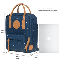 KAUKKO Backpack for daily use,  K1007-5 ( Blue  / 5.5L )