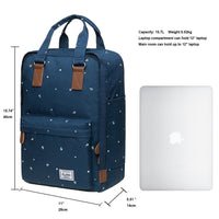 KAUKKO Backpack for daily use, K1007-3 ( Blue / 15.7L  )