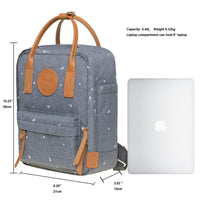 KAUKKO Backpack for daily use,  K1007-5 ( Grey / 5.5L )