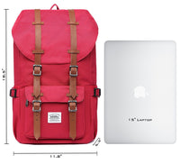 KAUKKO Backpack for city trips, EP5 ( Red+Wallet  / 22.4L )