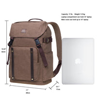 KAUKKO Backpack for daily use, KD02-2 ( Khaki / 17.6L )