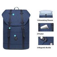 KAUKKO Backpack for city trips, EP6-15 ( Blue /17.8L )
