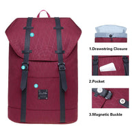 KAUKKO Backpack for city trips, EP6-15 ( Red /17.8L )