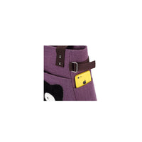 KAUKKO Shoulder Canvas Handbag Women Bag ( Purple )