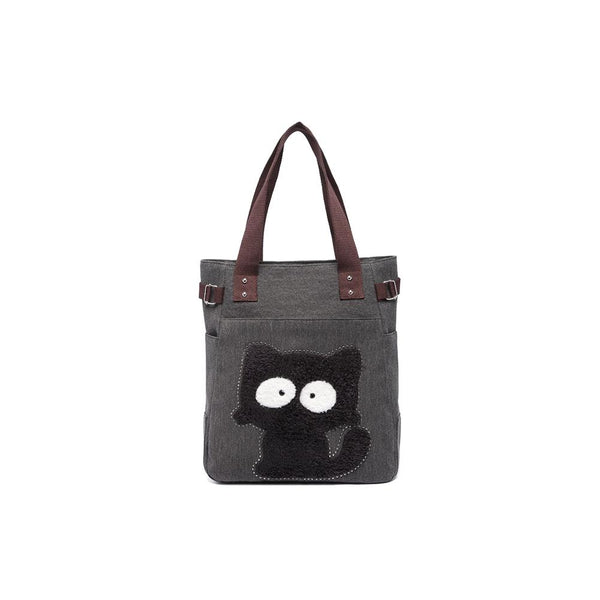 KAUKKO Shoulder Canvas Handbag Women Bag ( Black )