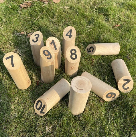 Garden Wooden Yard Game Scatter Tossing Game Set For Party