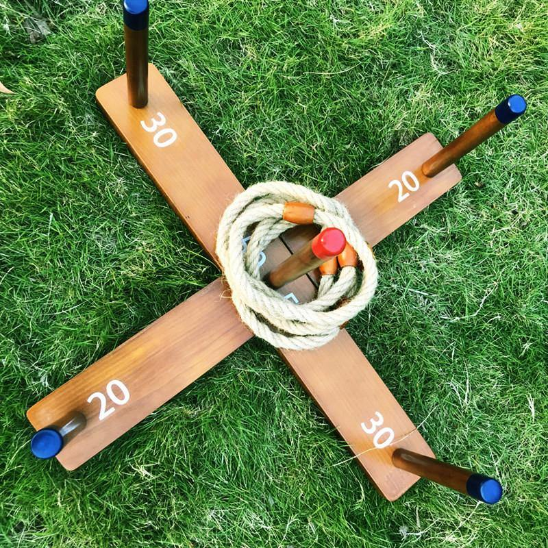 Deluxe Lawn Game Ring Toss Game Set For Family Party