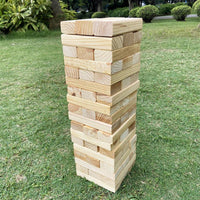 Giant Wooden Tumbling Tower Timbers With Carry Case 160 x 40 x 25 mm Each Wooden Block 60pcs/set
