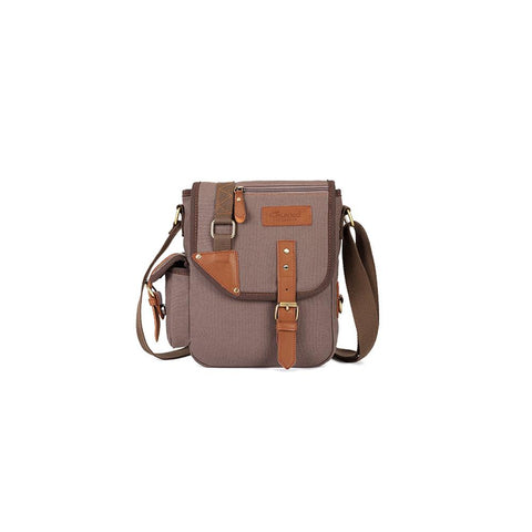 KAUKKO Casual Men Crossbody Bags ( Coffee )