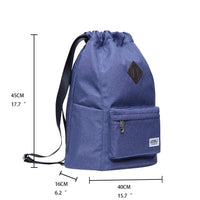 Oxford fabric Drawstring Sports Backpack ( light blue )