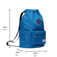 Oxford fabric Drawstring Sports Backpack ( blue )