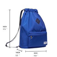 Drawstring Sports Backpack Gym Yoga backpack Shoulder Rucksack for Men and Women ( Blue )