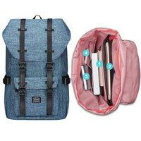 KAUKKO Backpack for city trips, EP5-2 ( Blue+Pencil case / 19L )
