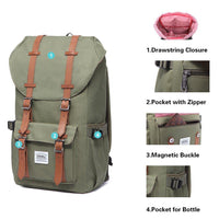 KAUKKO Backpack for city trips, EP5( Green / 22.4L )