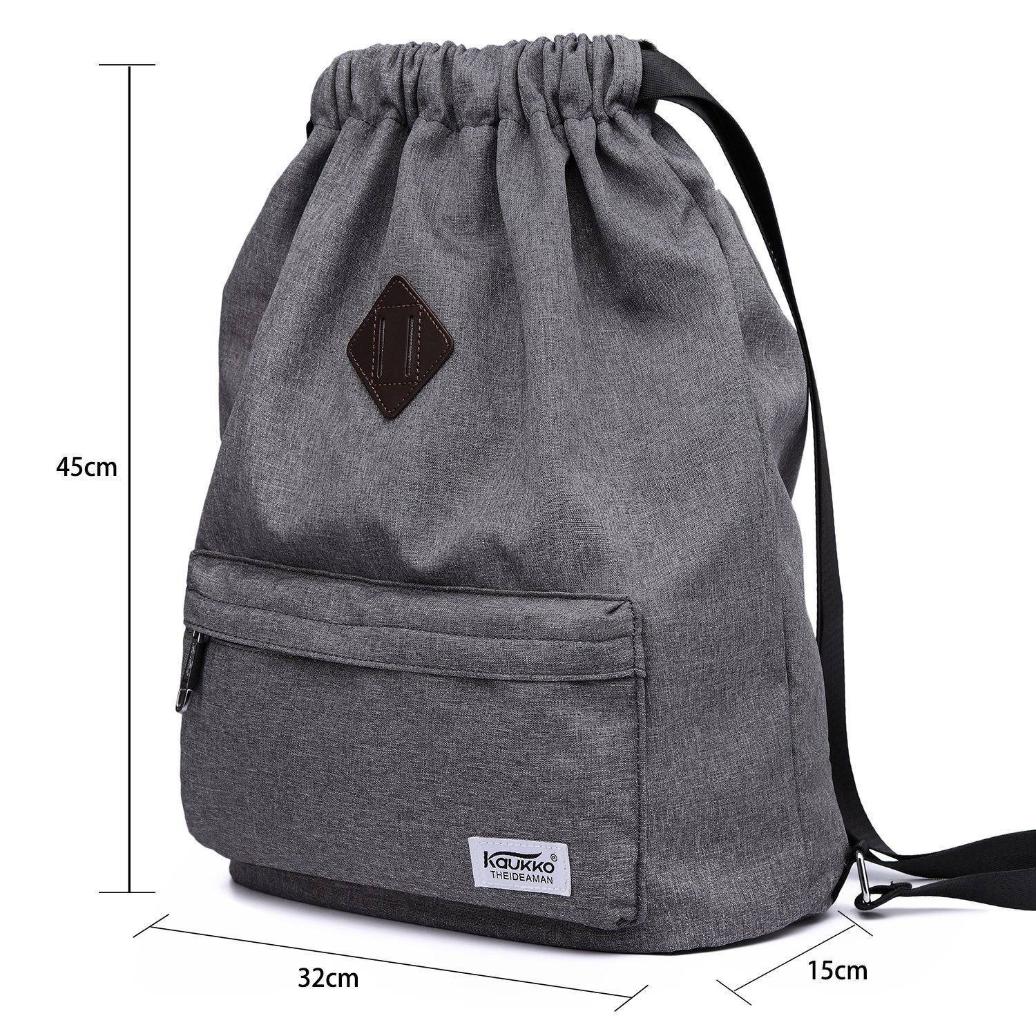 Gym Yoga backpack Shoulder Rucksack for Men and Women kaukko ( grey )