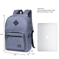 KAUKKO Backpack for School, KS01 ( Spot Grey / 18.6L )