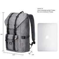 KAUKKO Backpack for city trips, EP5-2 ( Grey+Pencil case / 19L )