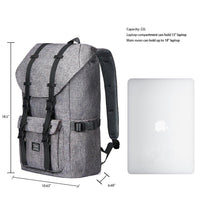 KAUKKO Backpack for city trips, EP5-2 ( Grey+Wallte / 19L )