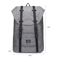Travel Casual Backpack & Laptop Daypack, EP6 ( Grey / 18.5L )