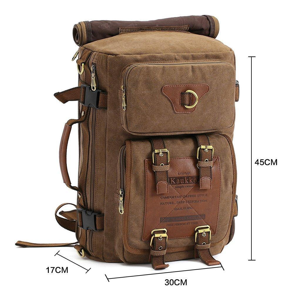 KAUKKO Outdoor Travel Men Backpack  ( Khaki )