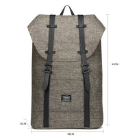 Travel Casual Backpack & Laptop Daypack, EP6 ( Khaki / 18.5L )