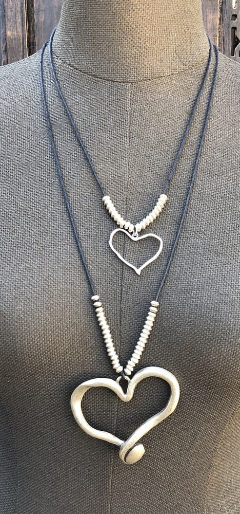 Large Heart Pendant Necklace