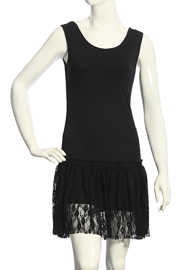 Tank Slip with Lace Trim