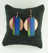 DC Designs - AE Collection - Blue Rectangle/Circle Earrings