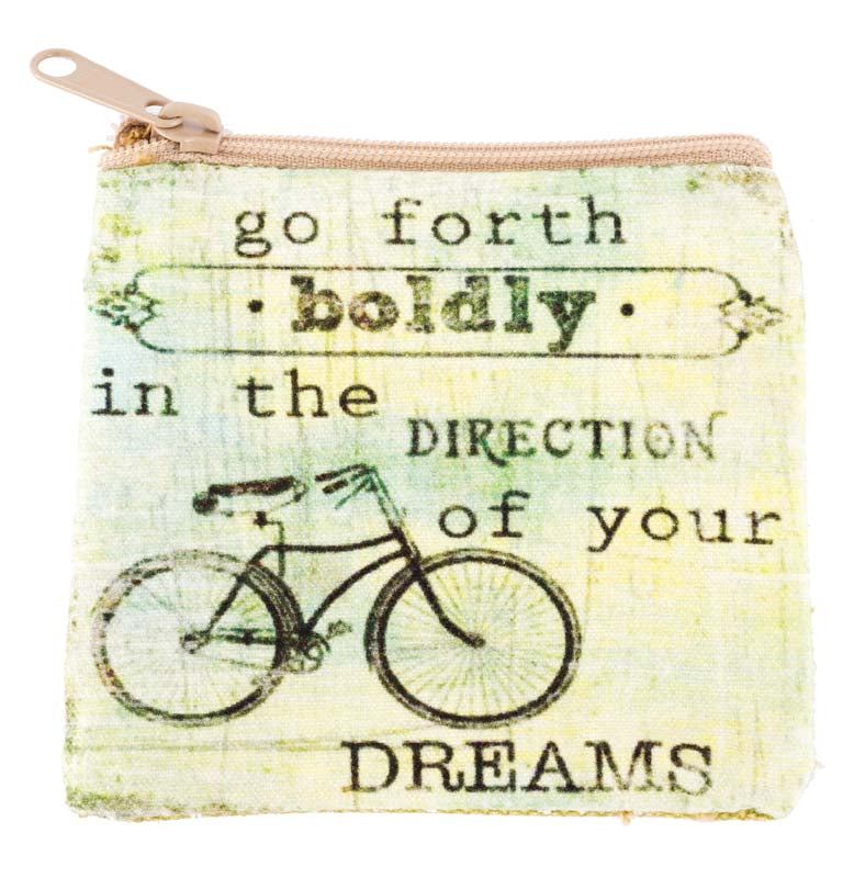 Go Forth Boldly Coin Purse