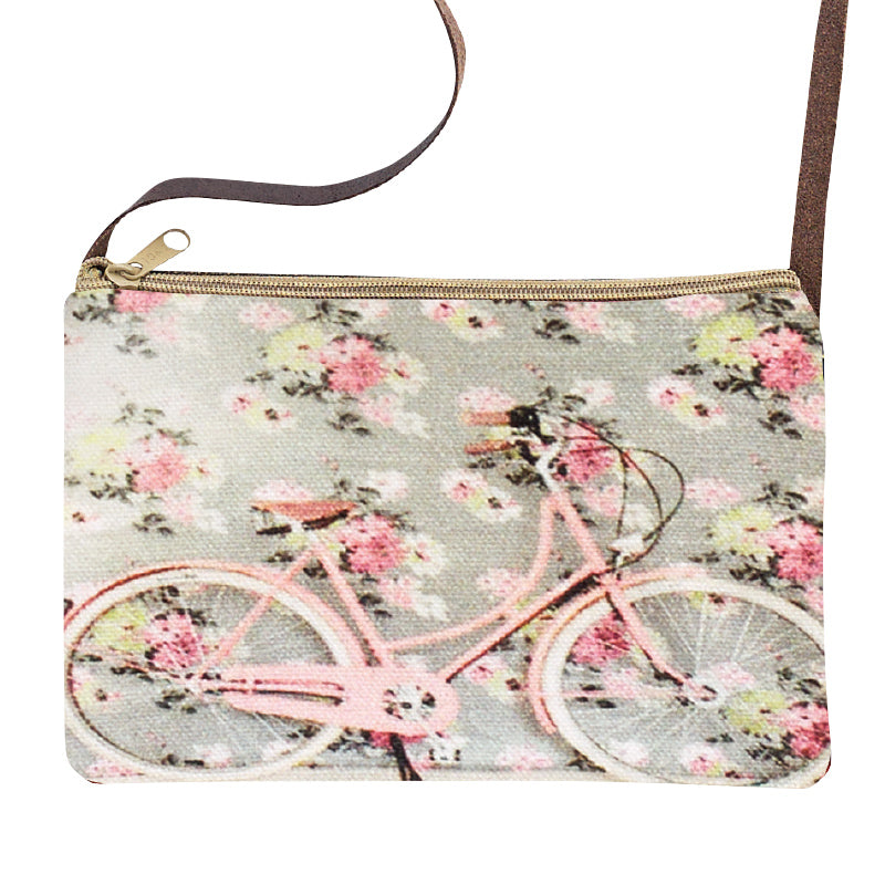 Floral Bicycle Sling Purse