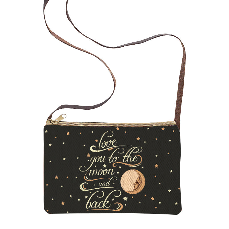 Love You to the Moon Sling Purse