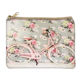 Floral Bicycle Coin Purse