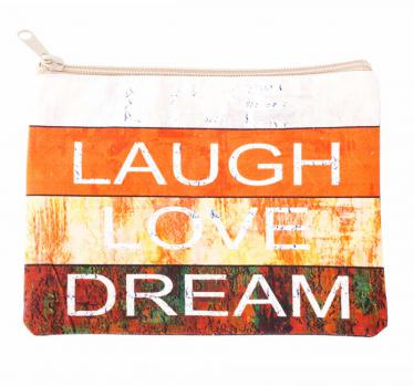 Laugh Love Dream Makeup Bag