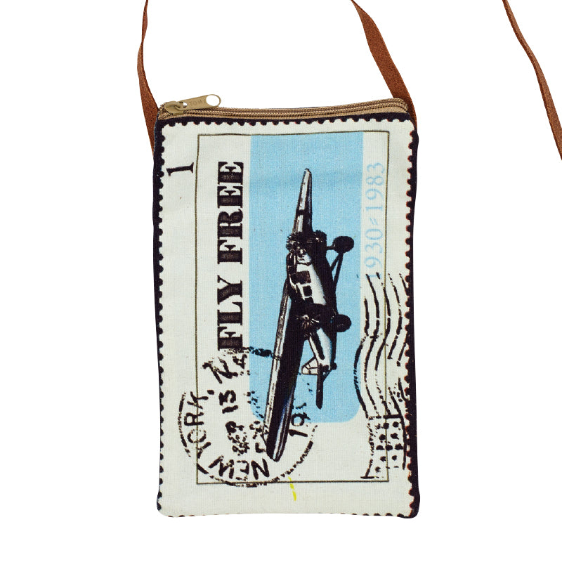 Fly Free Stamp Passport Bag